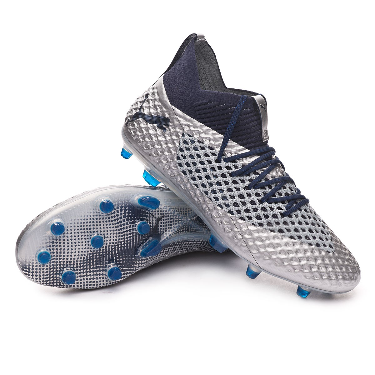 98f57b1001e Boot Puma Future 2.1 Netfit FG AG Puma Silver-Peacoat - Football ...