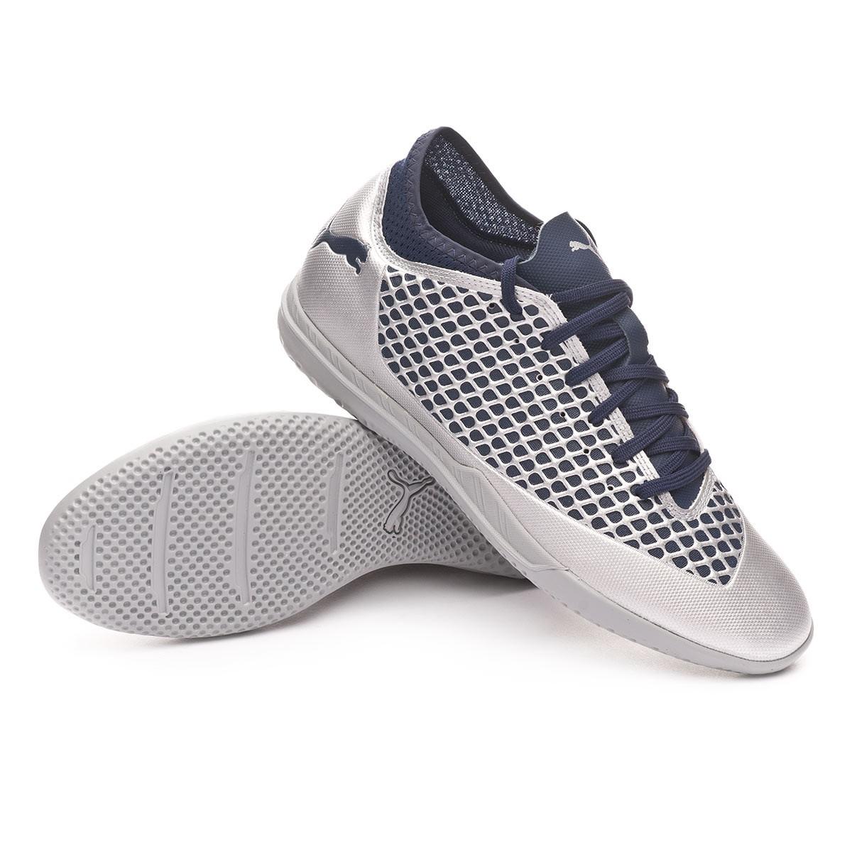 36d011240d4 Futsal Boot Puma Future 2.4 IT Puma Silver-Peacoat - Football store Fútbol  Emotion