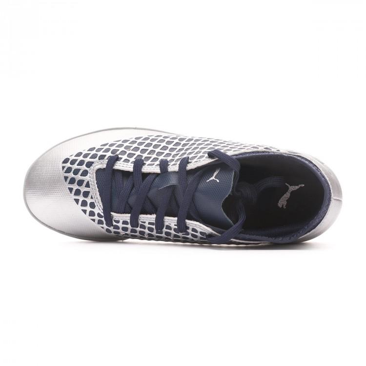2a9ddac2e11 Futsal Boot Puma Kids Future 2.4 IT Puma Silver-Peacoat - Leaked soccer