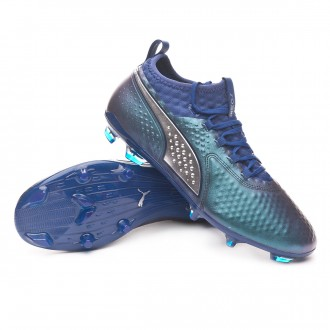 Boot  Puma Puma One 2 Leather FG Sodalite Blue-Puma Silver-Peacoat