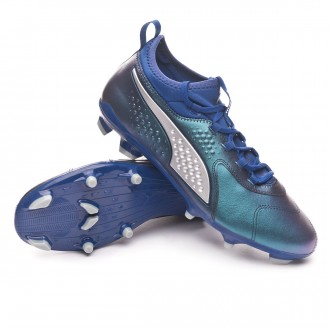 Boot  Puma Puma One 3 Leather FG Sodalite Blue-Puma Silver-Peacoat