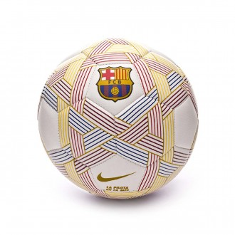 Ball  Nike MenorX FC Barcelona 2018-2019 White-Multicolor-Gold