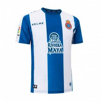 Camisola  Kelme RCD Espanyol Primeiro Equipamento 2018-2019 Azul-Branco