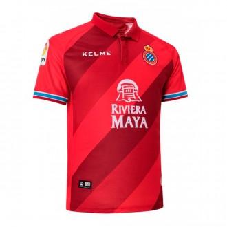 Camisola  Kelme RCD Espanyol Segunda Equipação 2018-2019 Vermelho