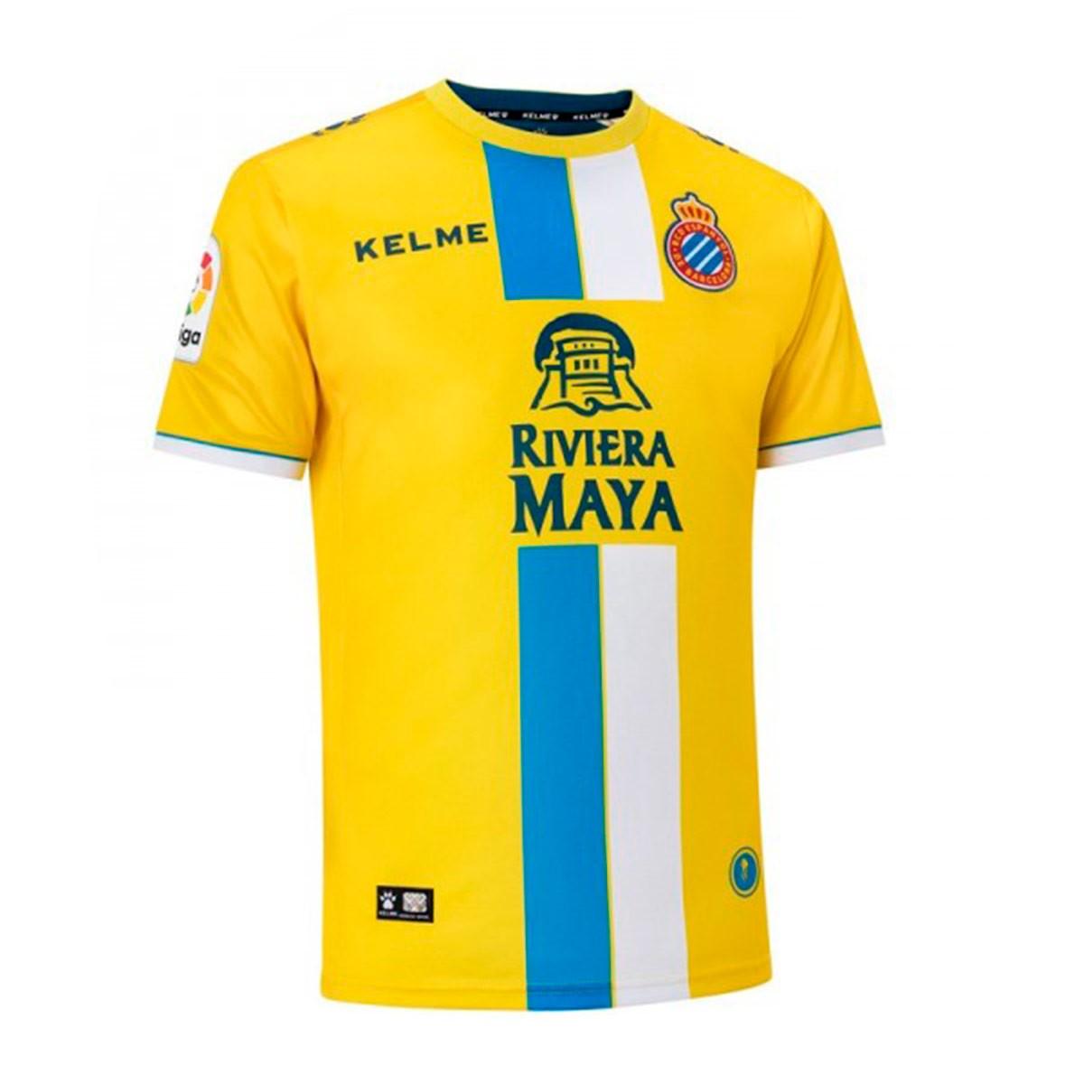 bf38ded18394a Jersey Kelme RCD Espanyol 2018-2019 Third Yellow - Football store ...