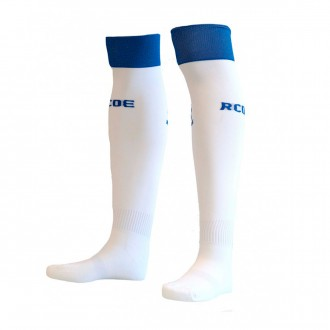 Football Socks  Kelme RCD Espanyol 2018-2019 White-Blue