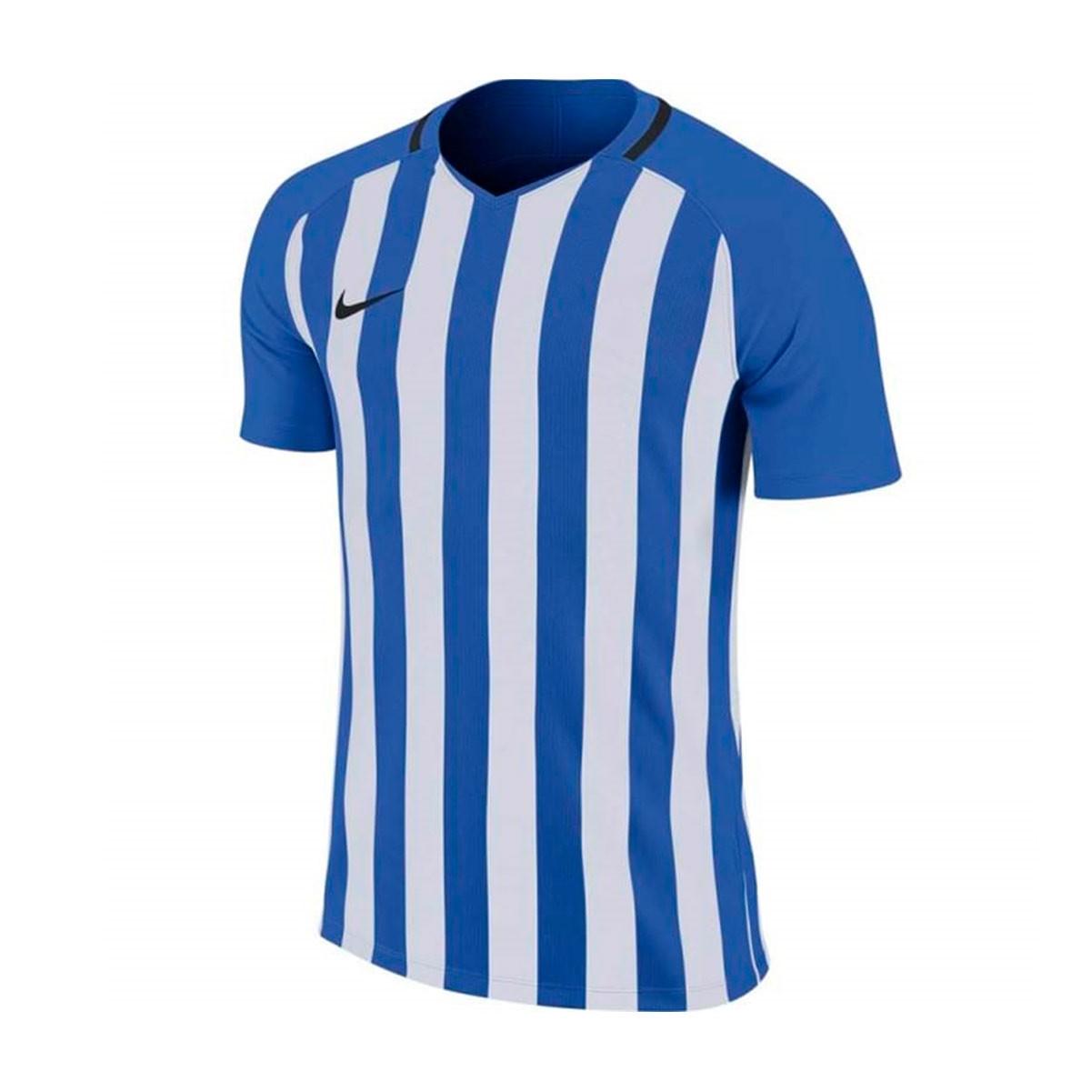 Camiseta Striped Division III mc Niño Royal blue White
