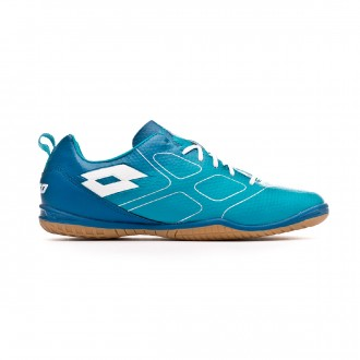 814a5a970d09b Sapatilha de Futsal Lotto Maestro 700 ID Blue bird-White