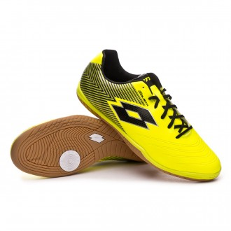 Chaussure de futsal  Lotto Solista 700 II ID Safety yellow-Black
