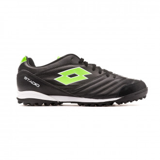 Football Boot  Lotto Stadio 300 II Turf All black-Spring green