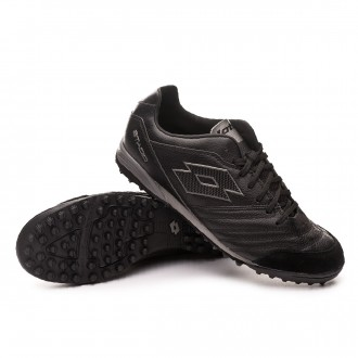 Football Boot  Lotto Stadio 300 II Turf All black-Gravity titanium