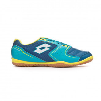 Chaussure de futsal Lotto Tacto 500 IV ID Gem blue-All white-Blue bird