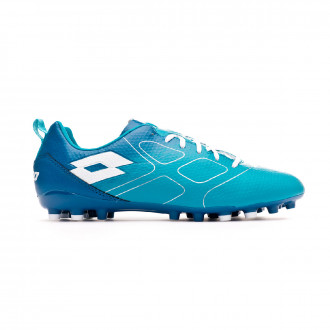Zapatos de fútbol Lotto Maestro 700 AGM Bluebird-All white-Gem blue