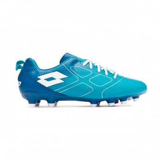 Zapatos de fútbol Lotto Maestro 700 FG Bluebird-All white-Gem blue