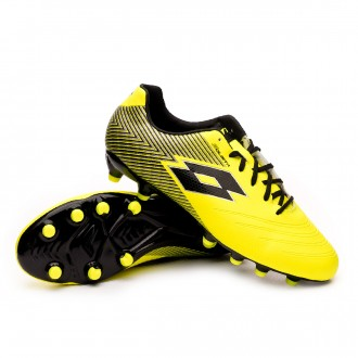 Football Boots  Lotto Solista 700 II FG Safety yellow-All Black-Silver metal