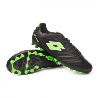 Boot  Lotto Stadio 300 II AGM All black-Spring green