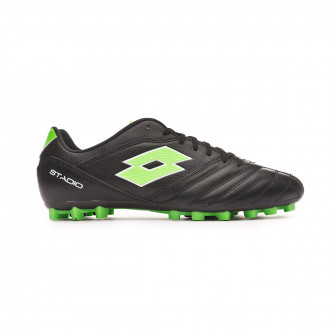Chaussure de foot Lotto Stadio 300 II AGM All black-Spring green