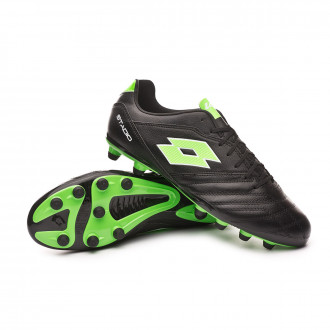 Boot  Lotto Stadio 300 II FG All black-Spring green