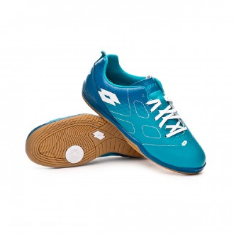 Futsal Boot  Lotto Maestro 700 ID Niño Blue bird-White