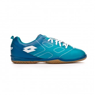 Chaussure de futsal Lotto Maestro 700 ID Niño Blue bird-White