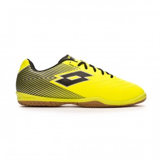 Chaussure de futsal Lotto Solista 700 II ID Niño Safety yellow-Black