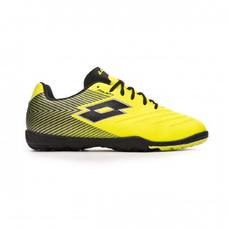 Football Boot  Lotto Solista 700 II Turf Niño Safety yellow-Black