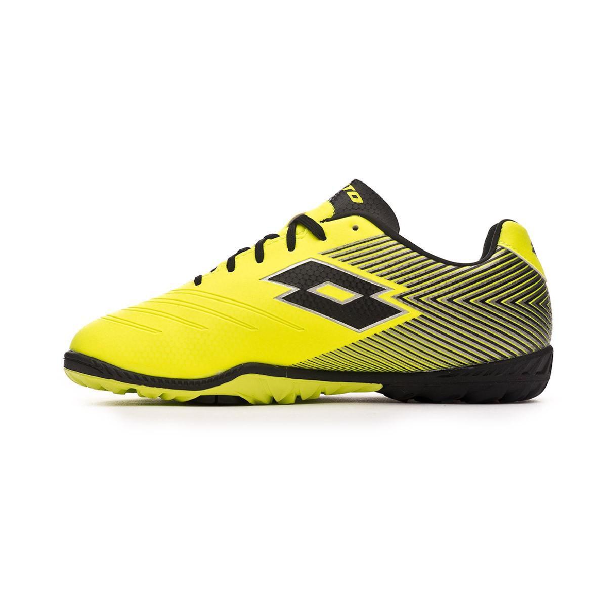 Lotto Solista 700 II Turf Ni/ño Safety Yellow-Black Zapatilla de f/útbol