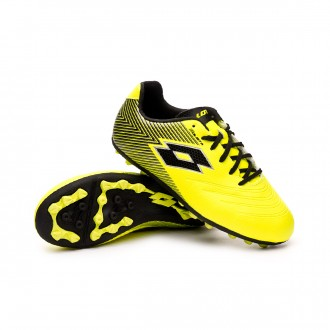 Football Boots  Lotto Solista 700 II AGM Niño Safety yellow-All Black-Silver metal