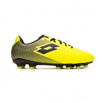 Zapatos de fútbol Lotto Solista 700 II FG Niño Safety yellow-Black
