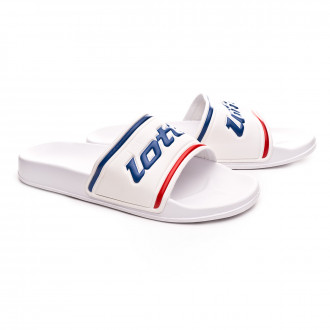 Flip-flops  Lotto Midway IV All white-Pacific blue
