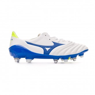 Football Boots  Mizuno Morelia Neo II MIX White-Wave cup blue-Safety yellow