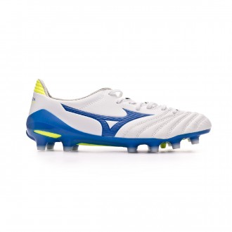 Football Boots  Mizuno Morelia Neo II MD White-Wave cup blue-Safety yellow