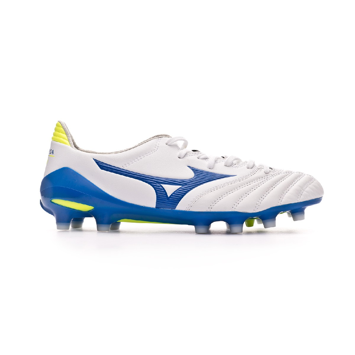 quality design de797 9ec0d Bota Morelia Neo II MD White-Wave cup blue-Safety yellow