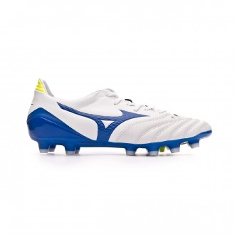 Chaussure de foot Mizuno Morelia Neo KL II White-Wave cup blue-Safety yellow