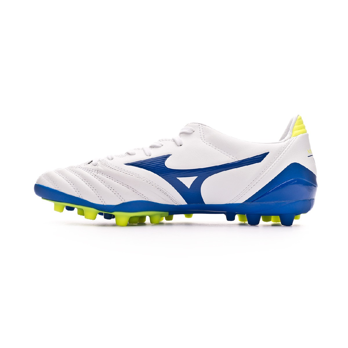 separation shoes dd93f 0f1e8 Bota Morelia Neo KL II AG White-Wave cup blue-Safety yellow