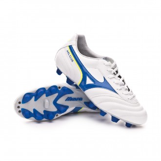 Chuteira  Mizuno MRL Club MD White-Wave cup blue-Safety yellow