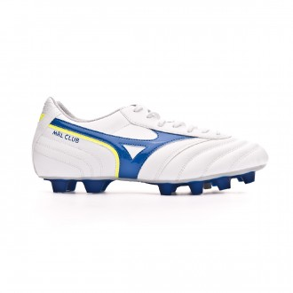 Football Boots  Mizuno MRL Club MD White-Wave cup blue-Safety yellow