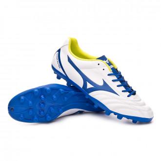 Bota  Mizuno Monarcida Neo Select AG White-Mazzarine blue-Safety yellow