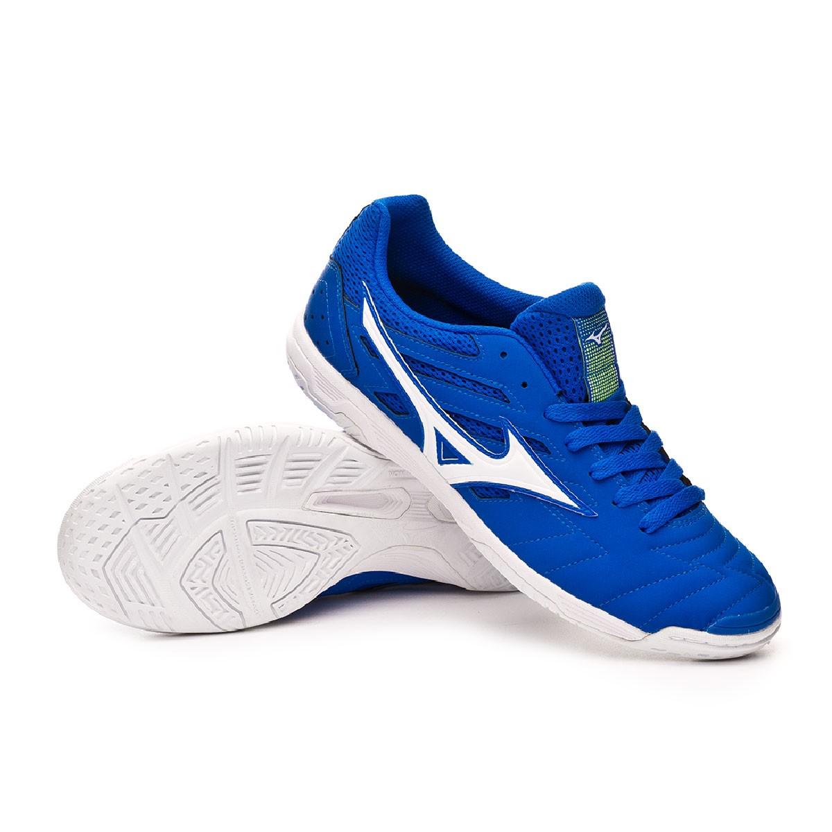 00007824ec16 Futsal Boot Mizuno Sala Classic 2 IN Blue-White-Yellow - Football store  Fútbol Emotion