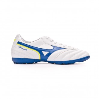 Chaussure de football Mizuno MRL Club AS White-Wave cup blue-Safety yellow