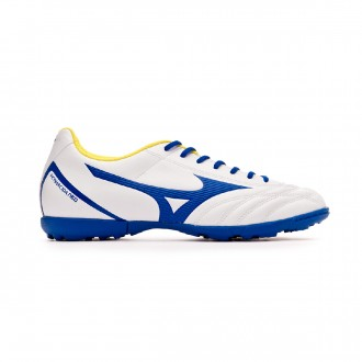 Chaussure de football Mizuno Monarcida Neo Select AS White-Mazzarine blue-Safety yellow