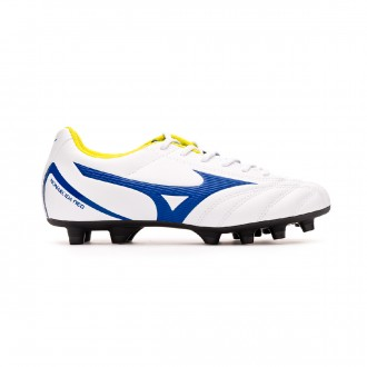 Zapatos de fútbol  Mizuno Monarcida Neo Select Niño White-Mazzarine blue-Safety yellow