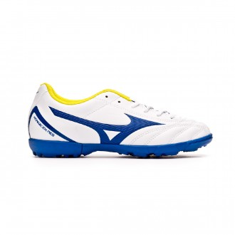 Football Boot  Mizuno Monarcida Neo Select AS Niño White-Mazzarine blue-Safety yellow
