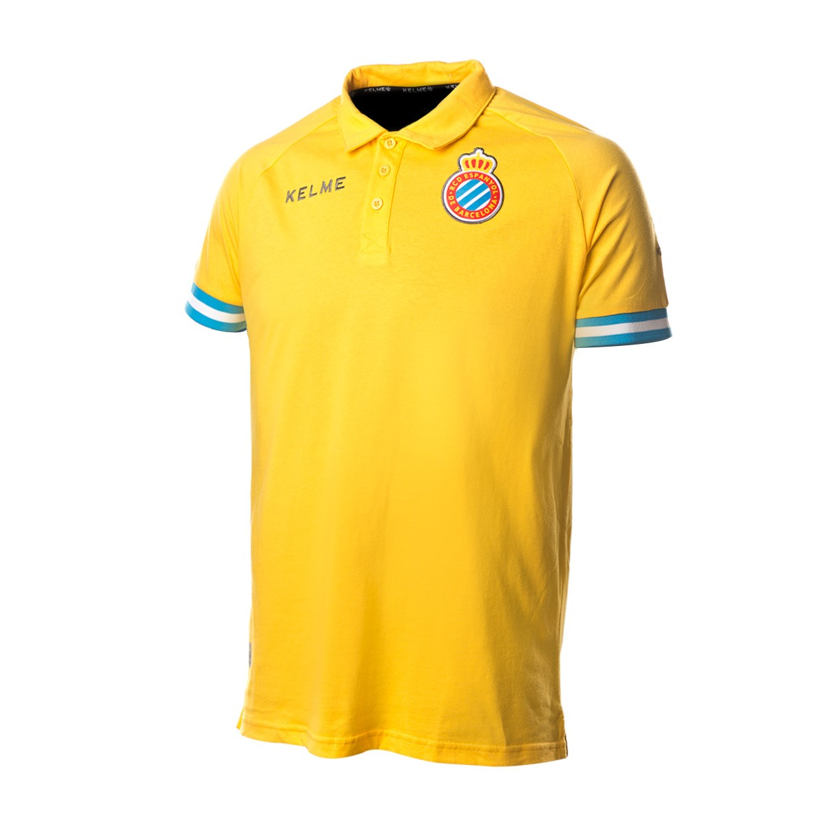 verse bien zapatos venta última tecnología brillo de color Kelme RCD Espanyol 2018-2019 Polo shirt