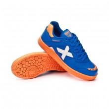 Zapatilla Continental V2 Niño Azul-Naranja