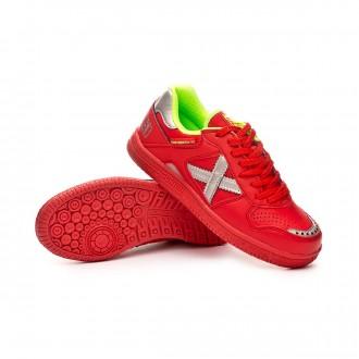 Chaussure de futsal  Munich Continental V2 Niño Rouge-Argent