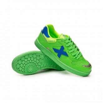 Chaussure de futsal  Munich Continental V2 Niño Verde flúor-Bleu