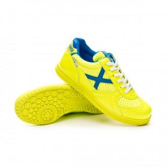 Chaussure de futsal  Munich G3 Niño Lime-Bleu