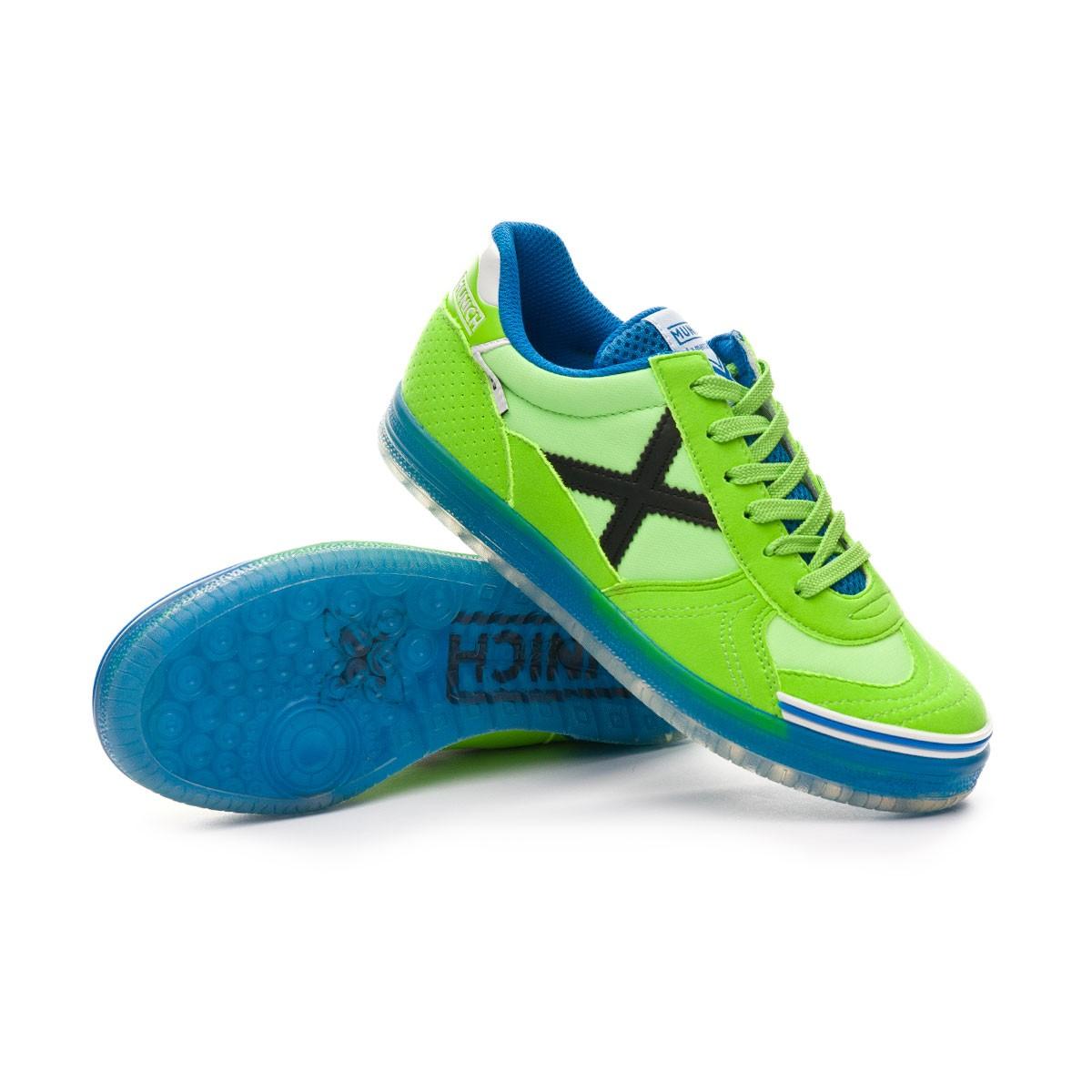 bad8532a7c8 Futsal Boot Munich Kids G3 Glow Lime-Blue - Tienda de fútbol Fútbol ...