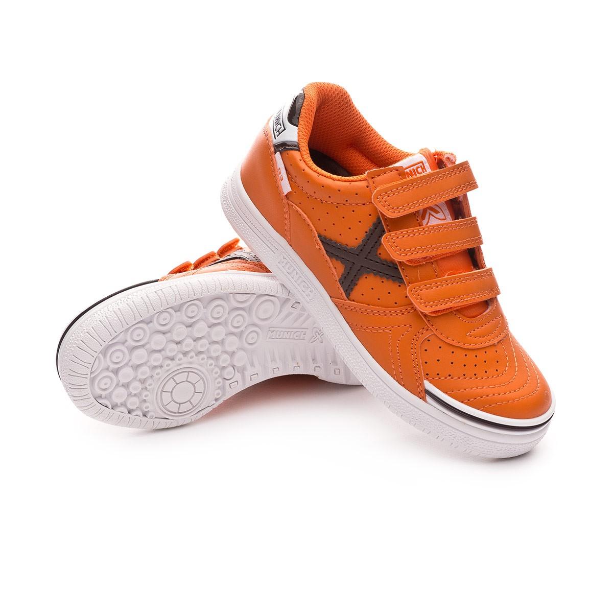 62dcae65fee Futsal Boot Munich Kids G3 Profit Velcro Orange - Tienda de fútbol ...